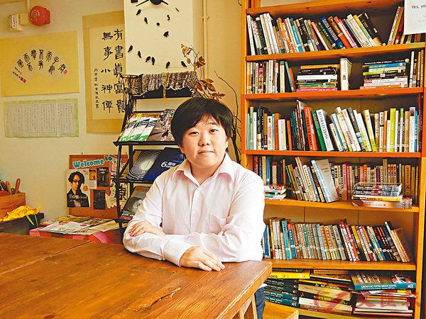 ■凌志豪自小被診斷出有讀寫障礙,但他克服自身障礙,更升上大學主修比較文學及藝術。香港文匯報記者黎忞  攝