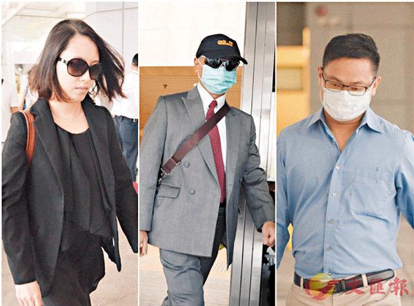 ■DR醫療事故3名被告。左起:麥允齡、周向榮和陳冠忠。