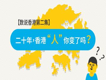 香港20   數說香港2:二十年,香港「人」你變了嗎?