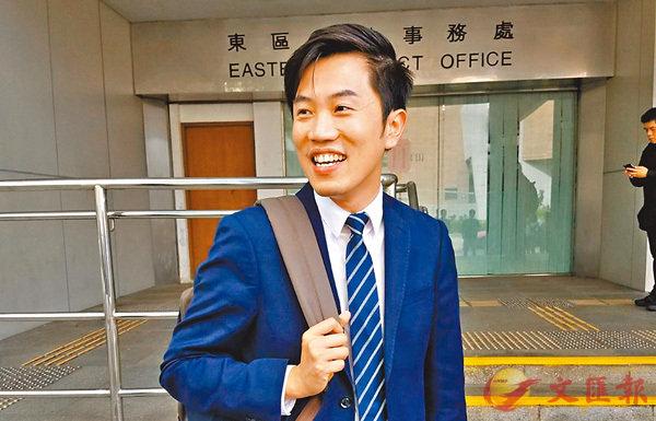 ■被控侮辱國旗及區旗的鄭松泰到庭出席預審。