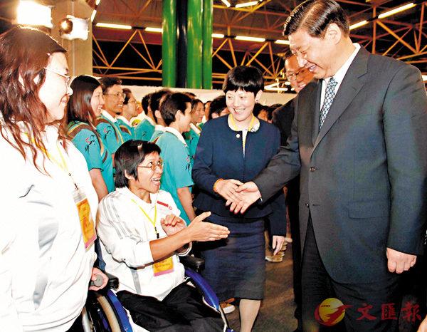 ■2008年7月6日,時任國家副主席習近平在沙田奧林匹克大家庭貴賓廳會見香港運動員。