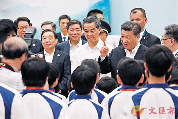■習主席在港發表多次講話,各界深受鼓舞。