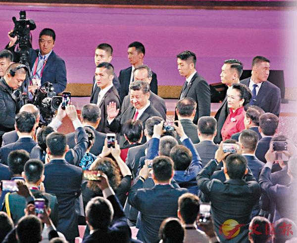 ■國家主席習近平視察香港期間,出席慶祝香港特別行政區成立20周年文藝晚會。資料圖片
