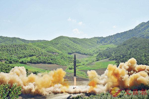 ■朝鮮宣稱首次成功試射「火星14」型洲際彈道導彈,形容是朝核裝備最後一個關口,能擊中全球任何核強國。 路透社