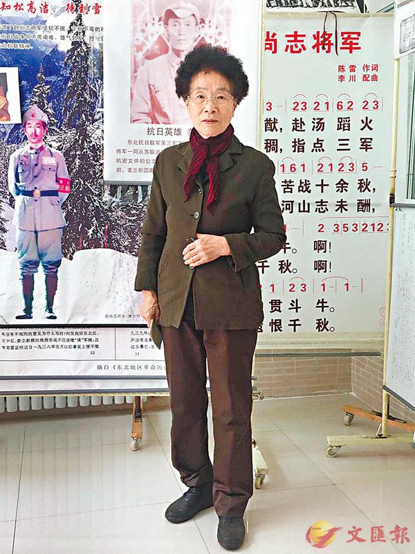 ■李敏多年來不斷宣傳「十四年抗戰」概念。香港文匯報記者王欣欣 攝
