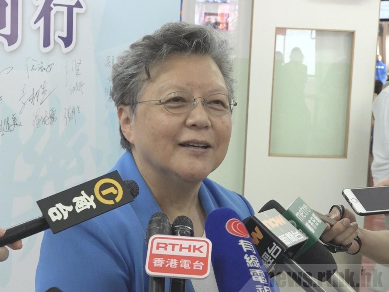 范徐麗泰相信政府會公布佈讓社會接受的「一地兩檢」方案。(港台圖片)