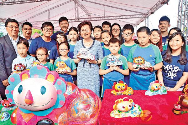 ■林鄭月娥昨出席慶祝回歸20周年黃大仙廣場開幕嘉年華。