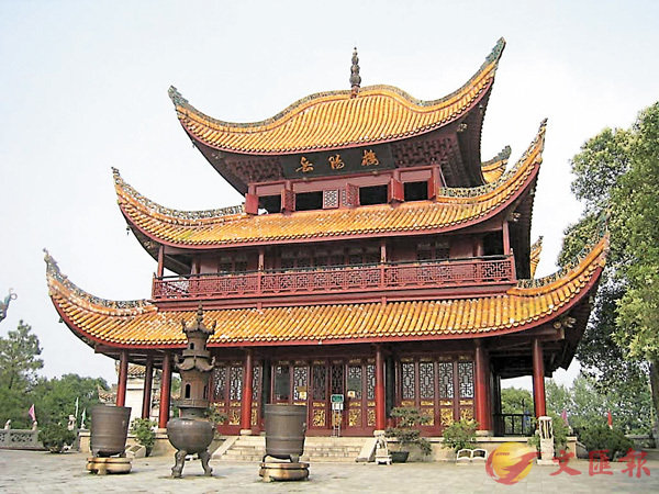 ■寫《岳陽樓記》的時候,范仲淹正被眨官至鄧州。圖為岳陽樓。 資料圖片