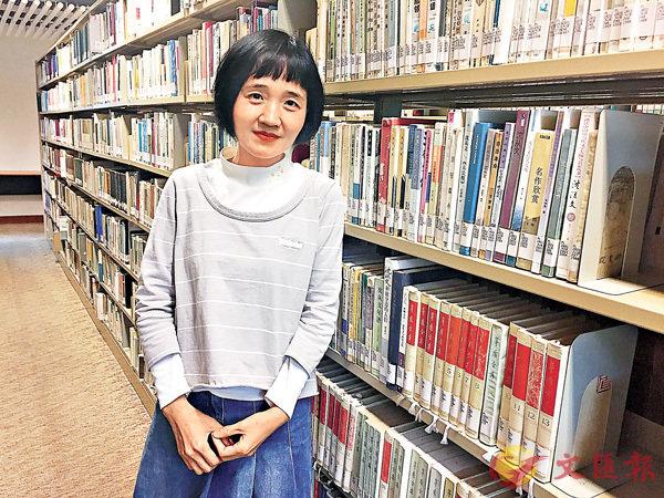 ■學校圖書館也是陳曦靜常去的地方。實習記者張美婷 攝