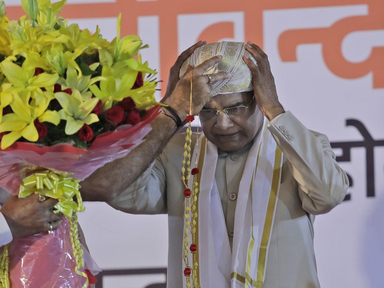 考文德成為印度第二位「賤民階層」出身的總統。(美聯社)