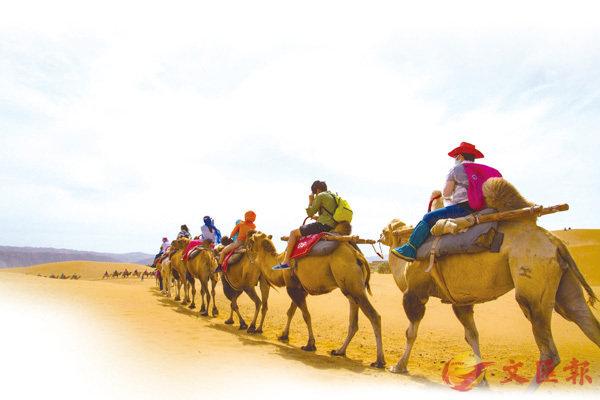 ■地處「塞上江南」的寧夏沙湖以半沙半湖的自然美景吸引無數遊客。「身處西北沙漠,欣賞江南水景」成為眾多遊客的共同體會。 資料圖片
