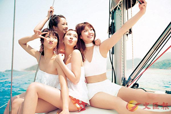 ■(左起)顏卓靈、蘇麗珊、朱千雪和歐鎧淳盡顯美女活力。