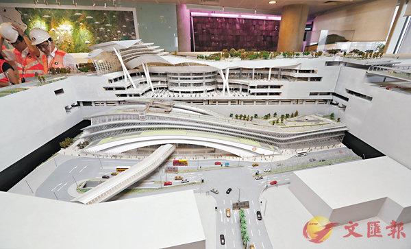 ■廣深港高鐵香港段計劃明年第三季通車。圖為西九龍總站模型。 資料圖片