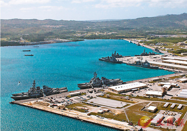 ■關島基地是美軍多艘核潛艇的母港,屬美軍西太洋戰略重地。 路透社