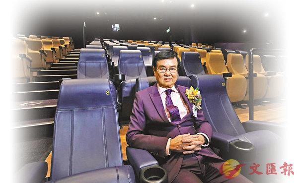 ■天馬影視主席黃柏鳴表示,本港開設戲院的投資回本期需兩年至三年。 記者劉國權  攝