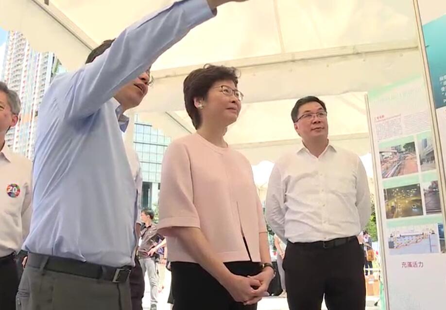 行政長官主持啟新道通車儀式