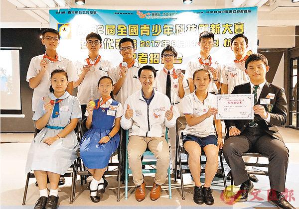 ■第三十二屆全國青少年科技創新大賽上周在杭州舉行,香港學生代表隊勇奪超過60個獎項。 香港文匯報記者薑嘉軒 攝