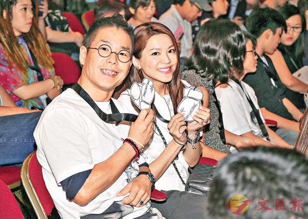 ■林曉峰和太太康子妮都是忠實的羽毛球迷。