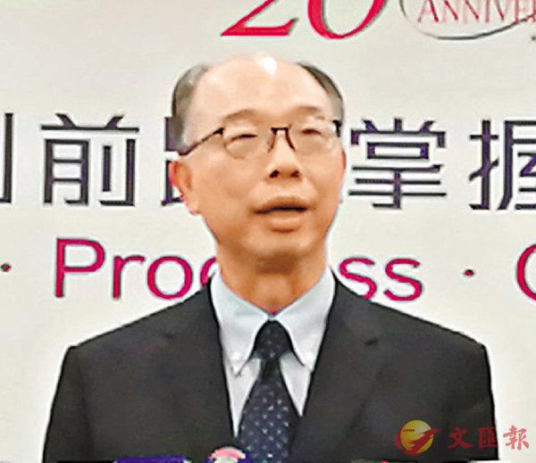 ■陳帆總結訪京行程。香港文匯報記者馬靜  攝