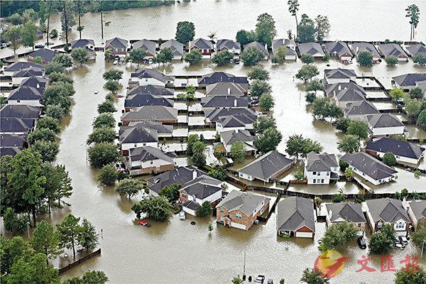 ■早前吹襲得州的「哈維」是1979年以來第三個「500年一遇」颶風。 美聯社