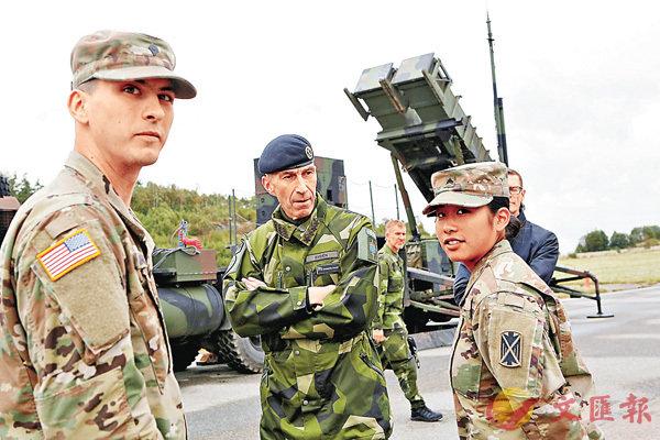 ■瑞典同樣舉行軍演,抗衡俄羅斯。路透社