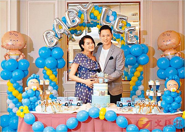 ■杏兒與老公Philip為BB的到來舉行Baby Shower。 網上圖片
