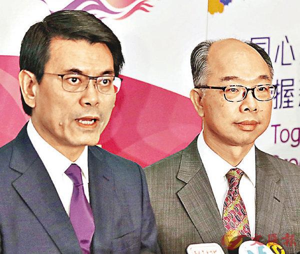 ■邱騰華及陳帆就事件會見傳媒,其中陳帆表明香港快運的表現不理想,已敦促作改善。
