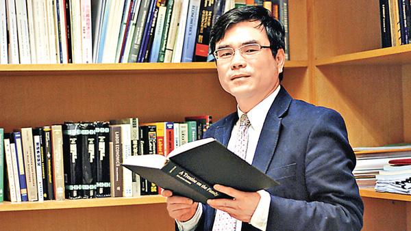 ■張俊森獲頒「孫冶方經濟科學獎」。中大網站圖片