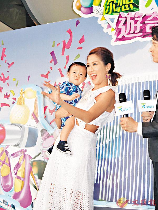 ■陳敏之長腿遺傳畀仔仔,子樂9個月大已經有2歲身高。