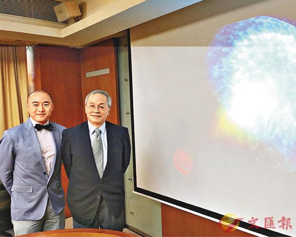 ■香港中文大學有份參與此次重力波發現。左起分別為黎冠峰和葉永烜。 香港文匯報記者柴婧  攝