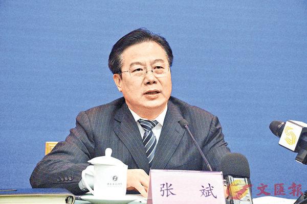 ■山東省國資委主任張斌。香港文匯報記者丁春麗  攝
