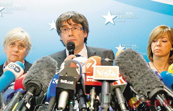 ■普伊格德蒙特在布魯塞爾召開記者會。 路透社