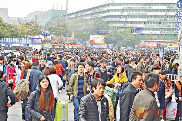 ■近5年,外省流入廣州的青年人口有所減少。 香港文匯報記者敖敏輝  攝