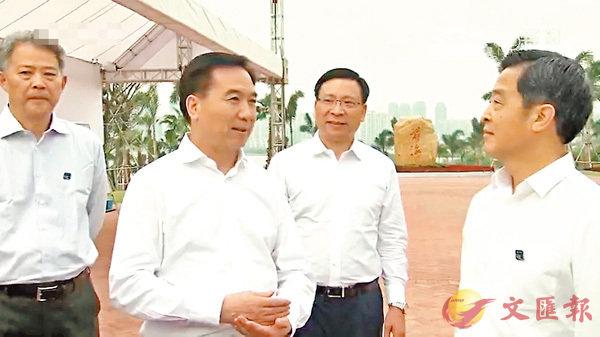 ■廣東省委書記李希到深圳前海調研。視頻截圖