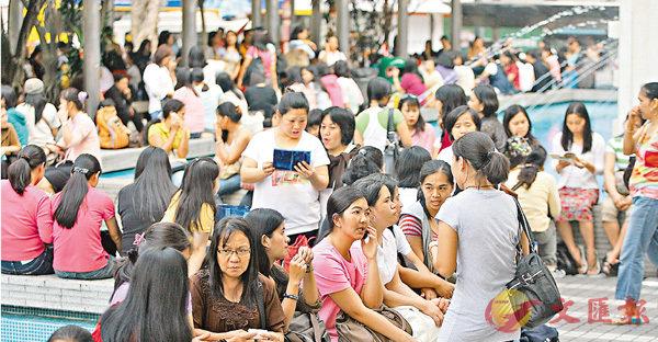 ■本港現有30多萬名外傭,但近年不少僱主反映難以請人。 資料圖片