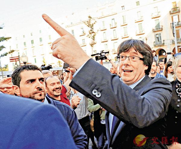 ■前加泰羅尼亞自治政府主席普伊格蒙特。 資料圖片