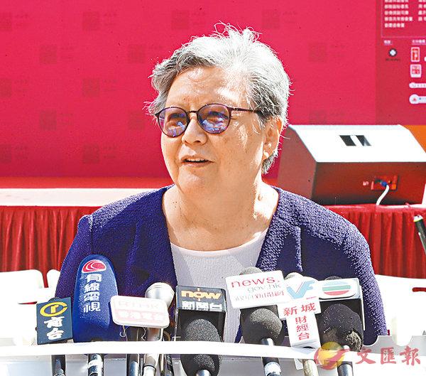 ■全國人大常委范徐麗泰。香港文匯報記者潘達文  攝