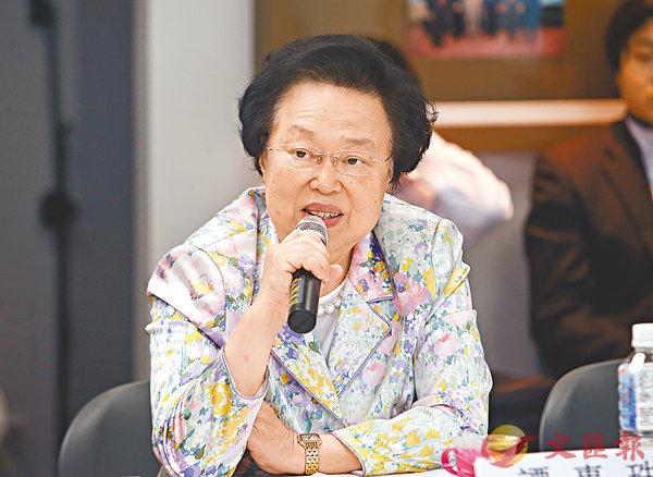 ■港區全國人大代表、基本法委員會委員譚惠珠。