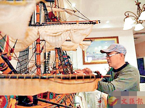 ■趙金龍精心呵護每一艘戰船。 網上圖片