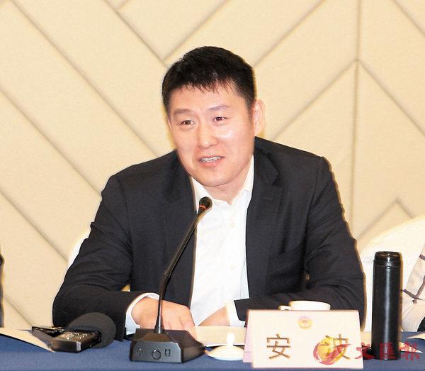 ■國版控股集團董事局主席安波。香港文匯報記者殷江宏 攝
