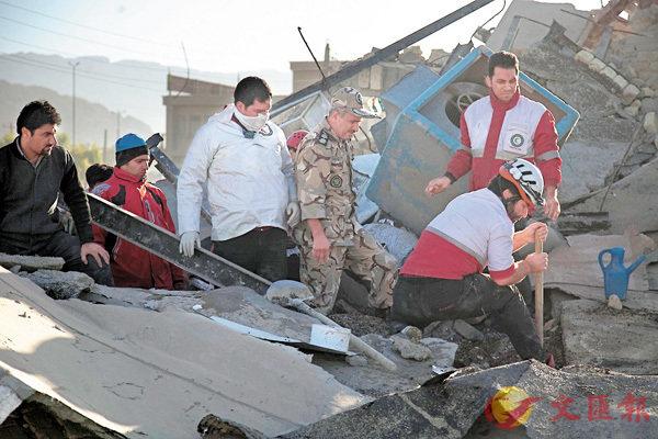 兩伊邊境7.3級地震415死 (圖)