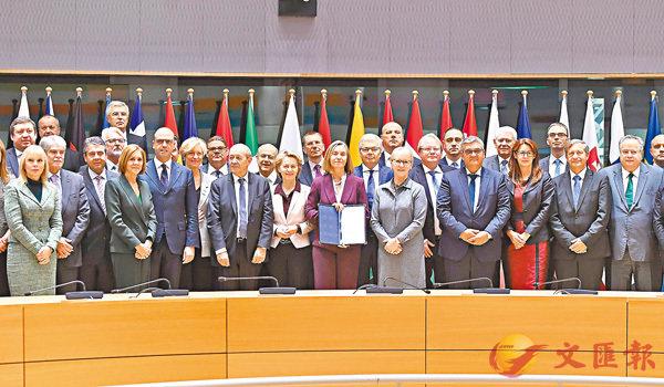 ■歐盟23國外長和防長簽署協定,推動歐盟防務合作。 法新社