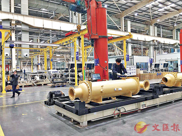 ■海爾中央空調互聯工廠。香港文匯報記者楊奕霞  攝