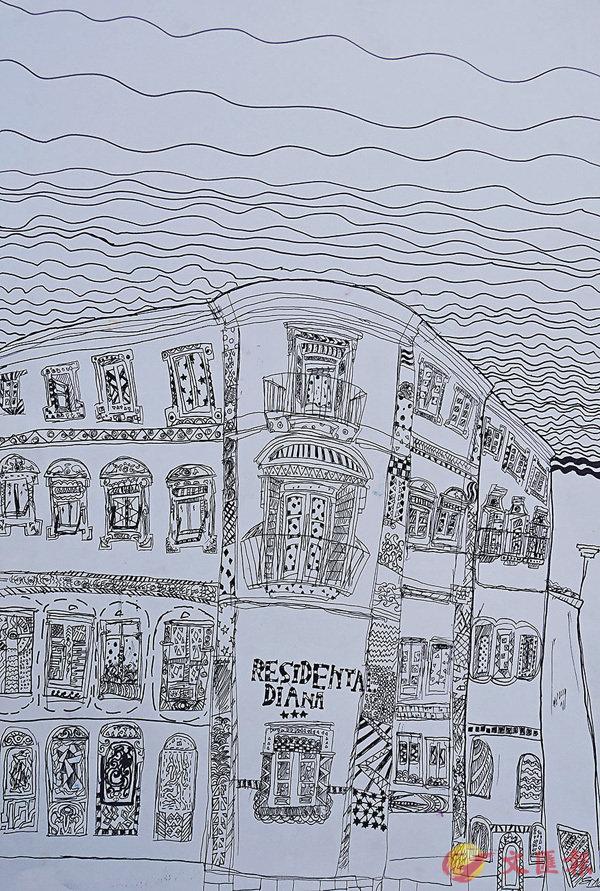 歐洲古城街角