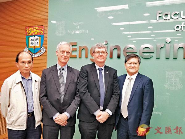 ■左起:張祺忠、史秉士、David Cardwell、田之楠。 香港文匯報記者姜嘉軒  攝