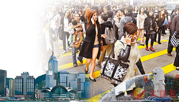 ■在全球人才榜中,新加坡發力後追,排名與香港叮噹馬頭。 設計圖片