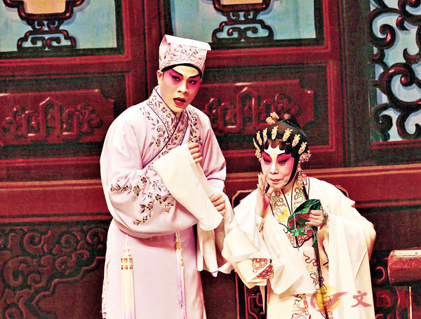■藍天佑與南鳳合演《十繡香囊》一折戲很有戲味。