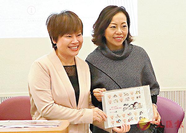 ■王秀容(左)、麥美娟。香港文匯報記者陳文華  攝