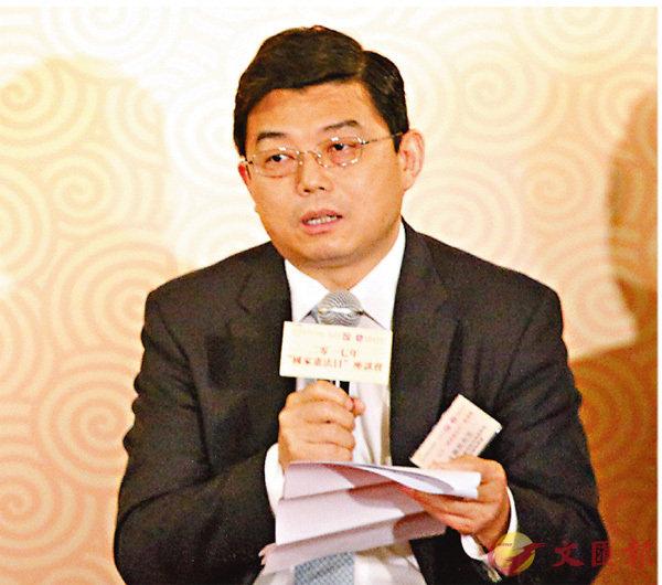 ■中聯辦法律部部長王振民。香港文匯報記者曾慶威  攝