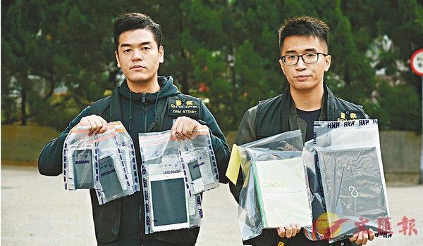 ■探員在IT男家中檢獲的手提電話、平板電腦、手提電腦和提款卡證物。